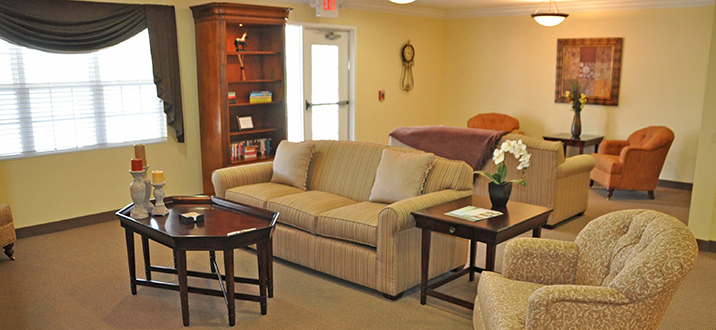 Guest & Resident Lounge with Seating